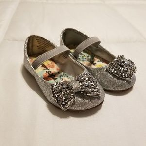 Happy Soda Infant/Toddler Silver Dress Shoes